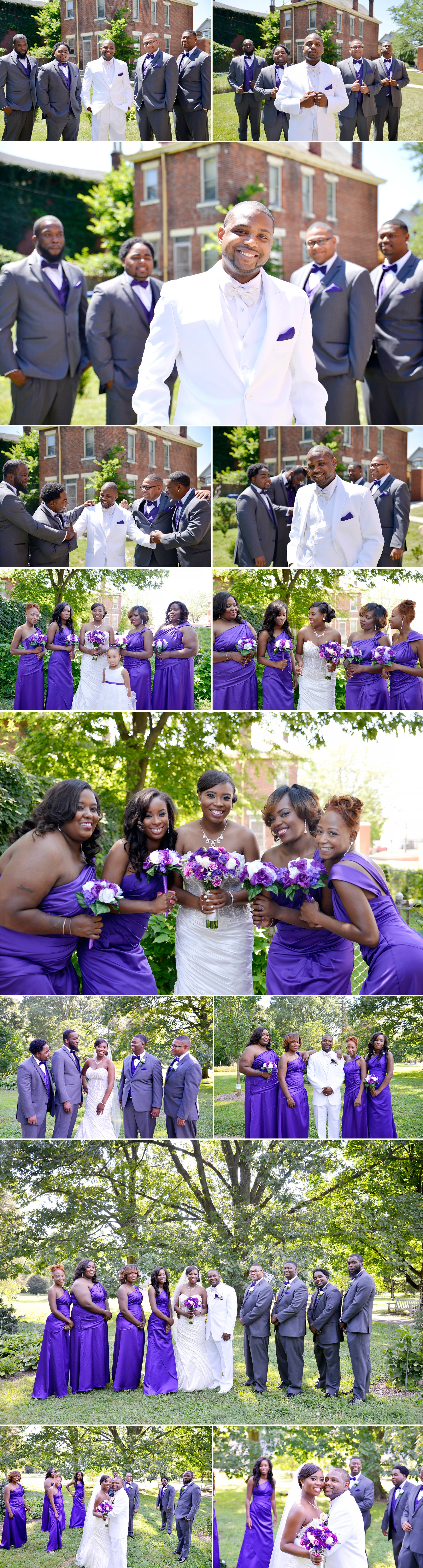 4-wedding photos in park of roses, clintonville ohio