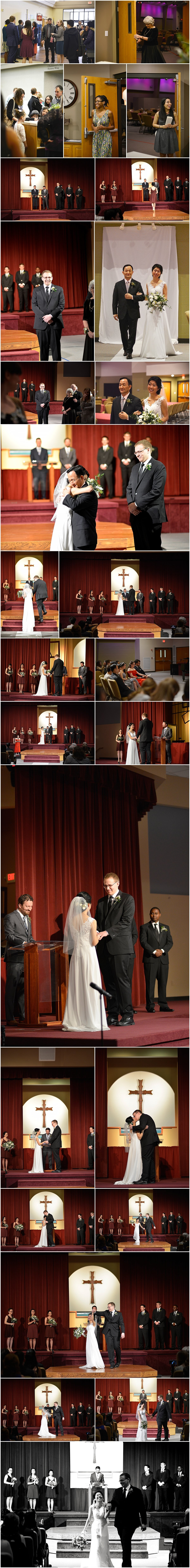Wedding in New Life Church Gahanna Ohio