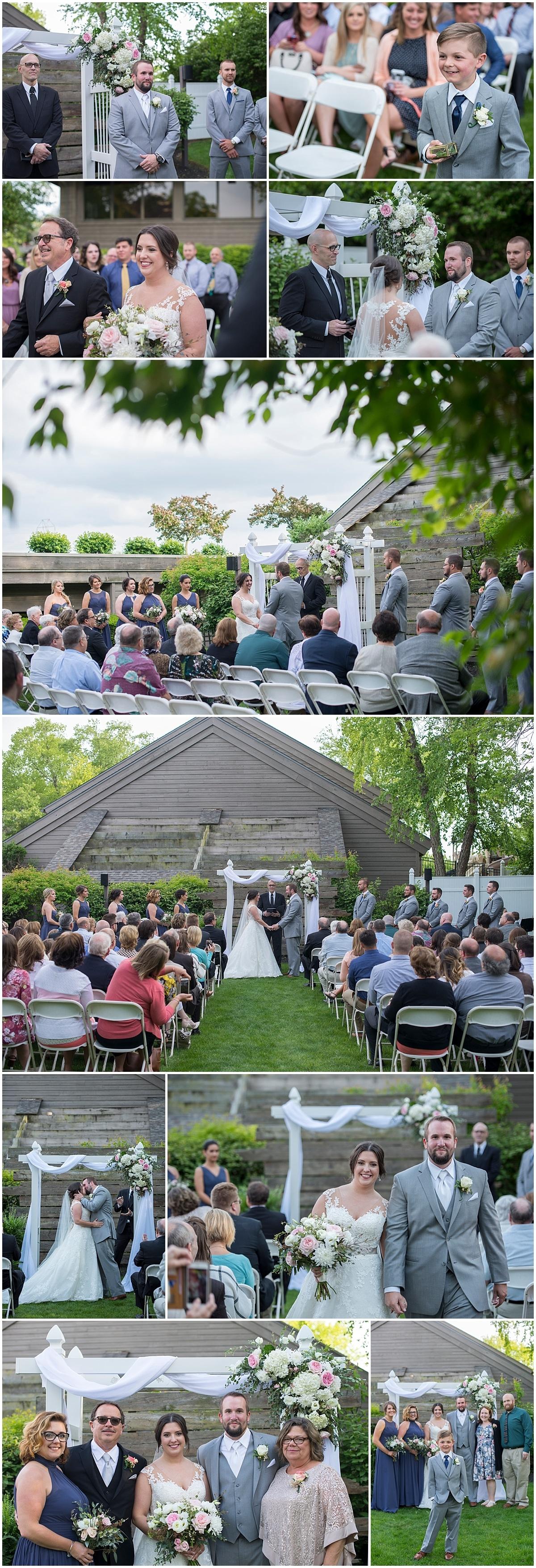 Watersedge event center Wedding ceremony Hilliard oh