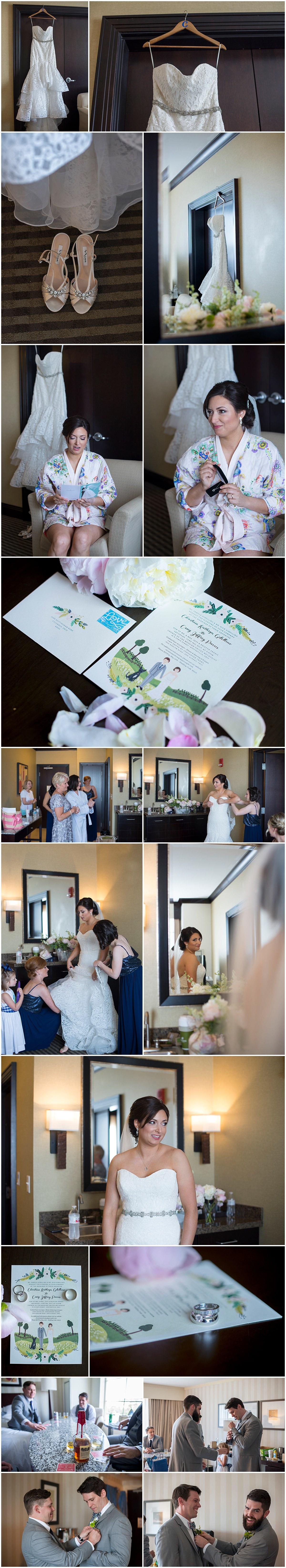 Polaris Hilton bride getting ready Columbus ohio