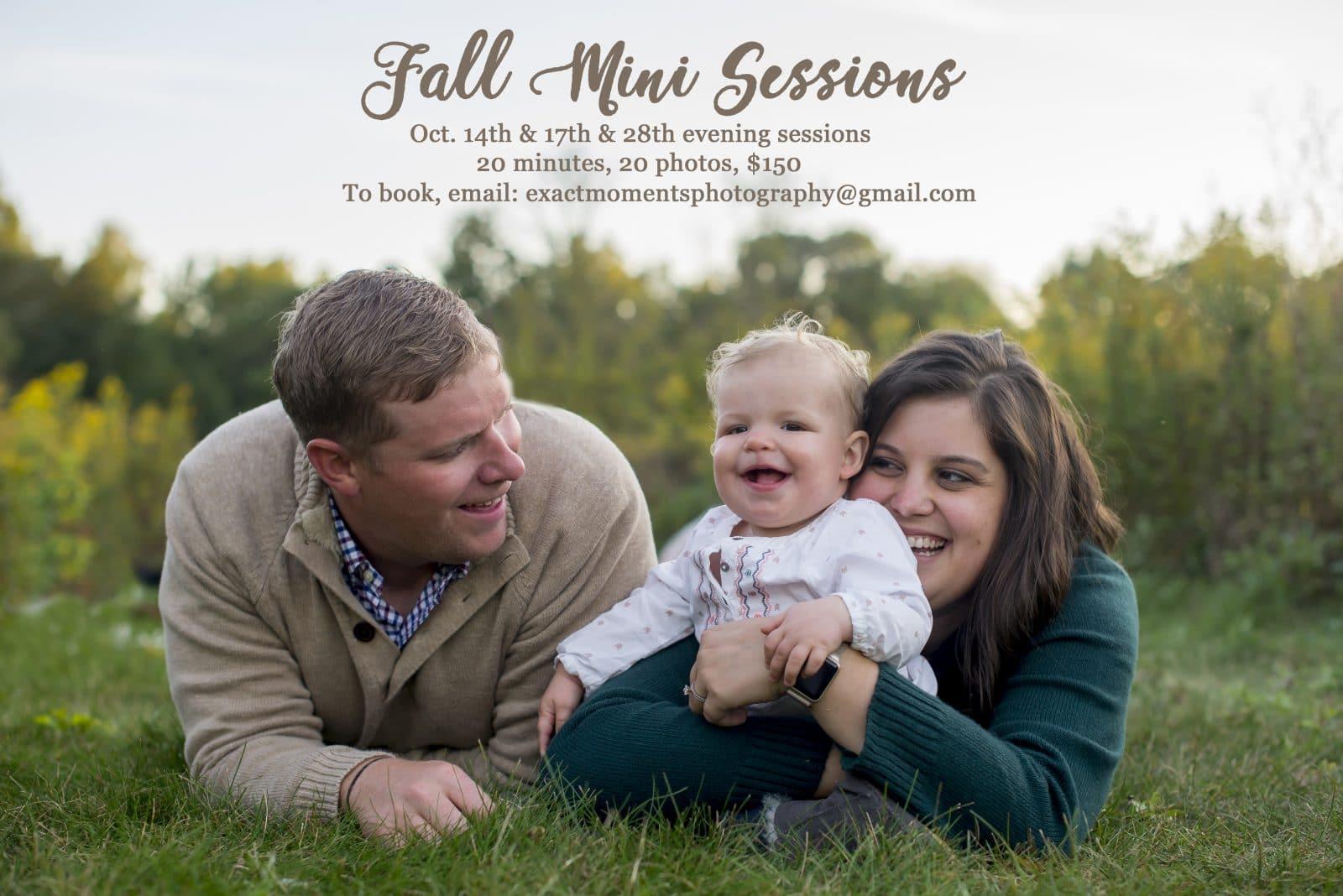 Fall and Christmas Mini Photo Sessions Columbus 2018