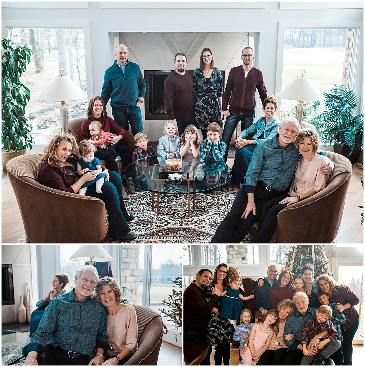 Christmas Extended Family session in Columbus/Oh