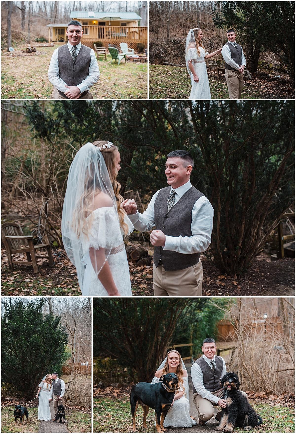 wedding in Hocking Hills