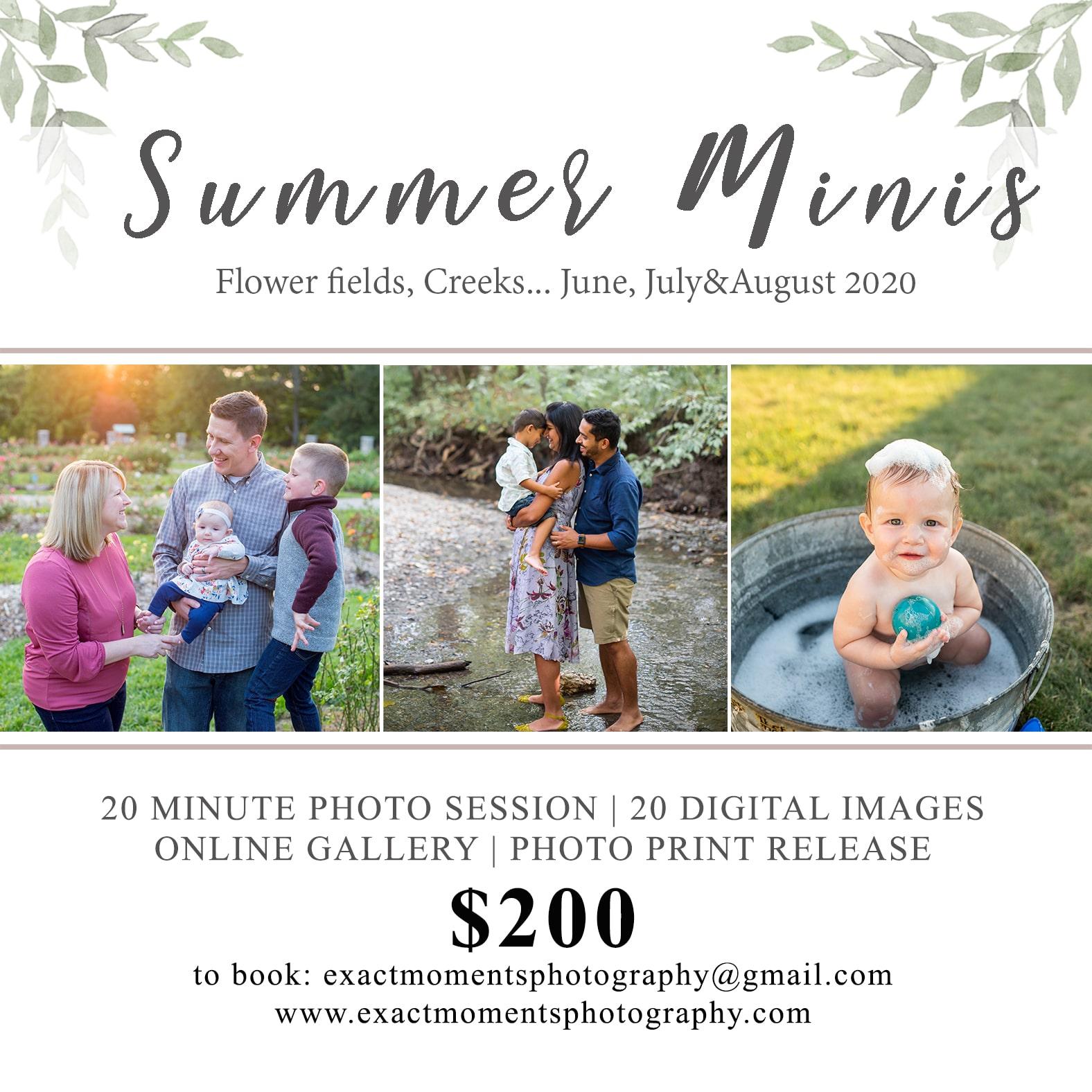 summer mini sessions in columbus ohio
