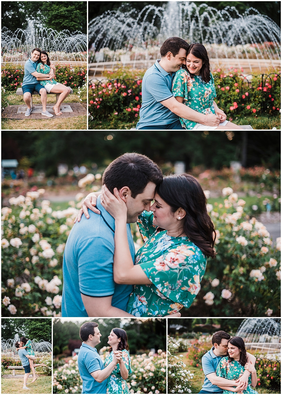 Engagement Session in Park of Roses